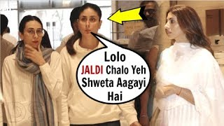 Kareena & Karishma Kapoor IGNORE Shweta Bachchan At Vikram Phadnis's Mother's Prayer Meet