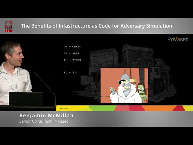 The benefits of Infrastructure as Code for adversary simulation (Benjamin McMillan, Privasec)