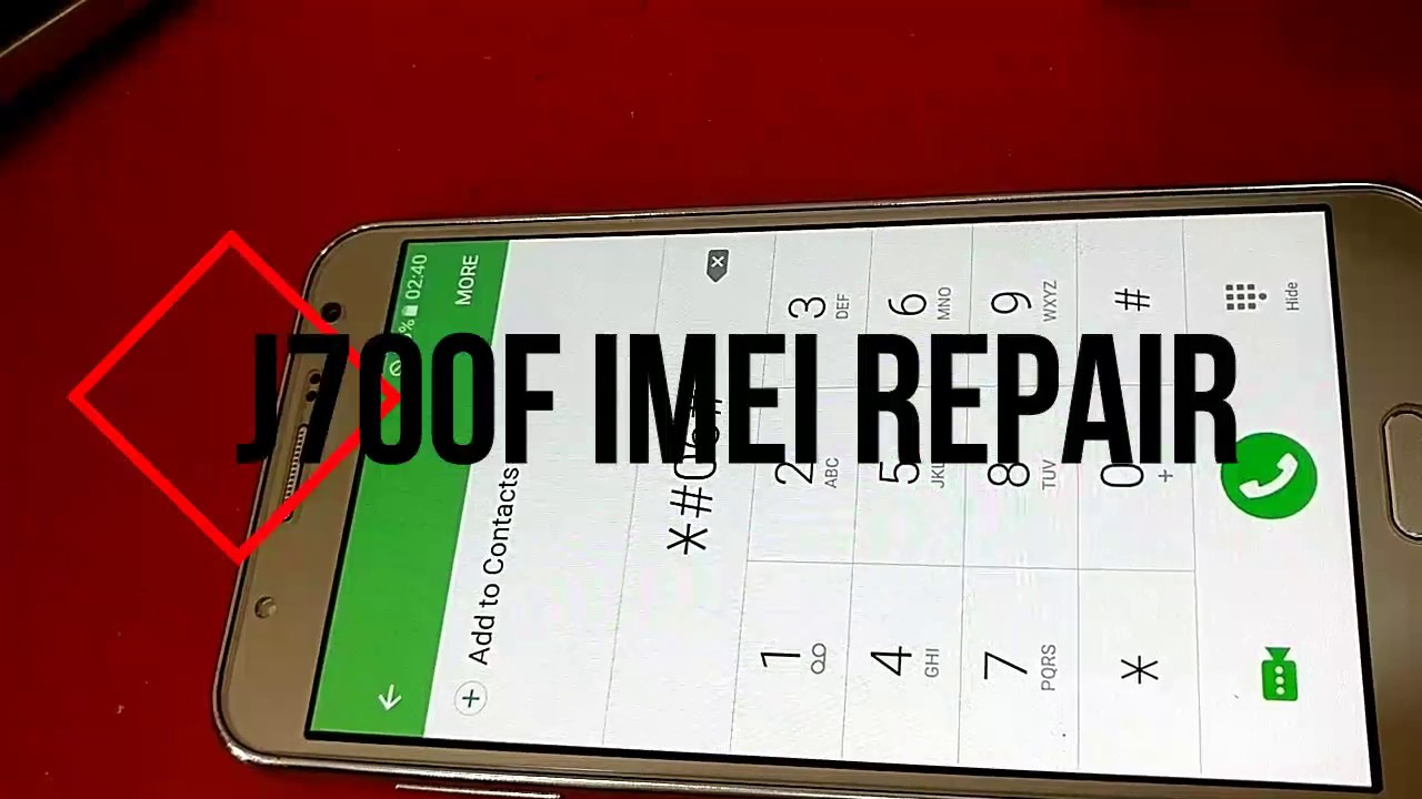Samsung J700F BaseBand&IMEI Repair Without Any Box 100% Done