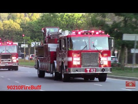 LAFD Light Force 92 Responding (Motorola Hi-Lo & Lots of Air Horn)