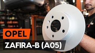 Как се сменя Комплект спирачни дискове на OPEL ZAFIRA B (A05) - видео ръководство