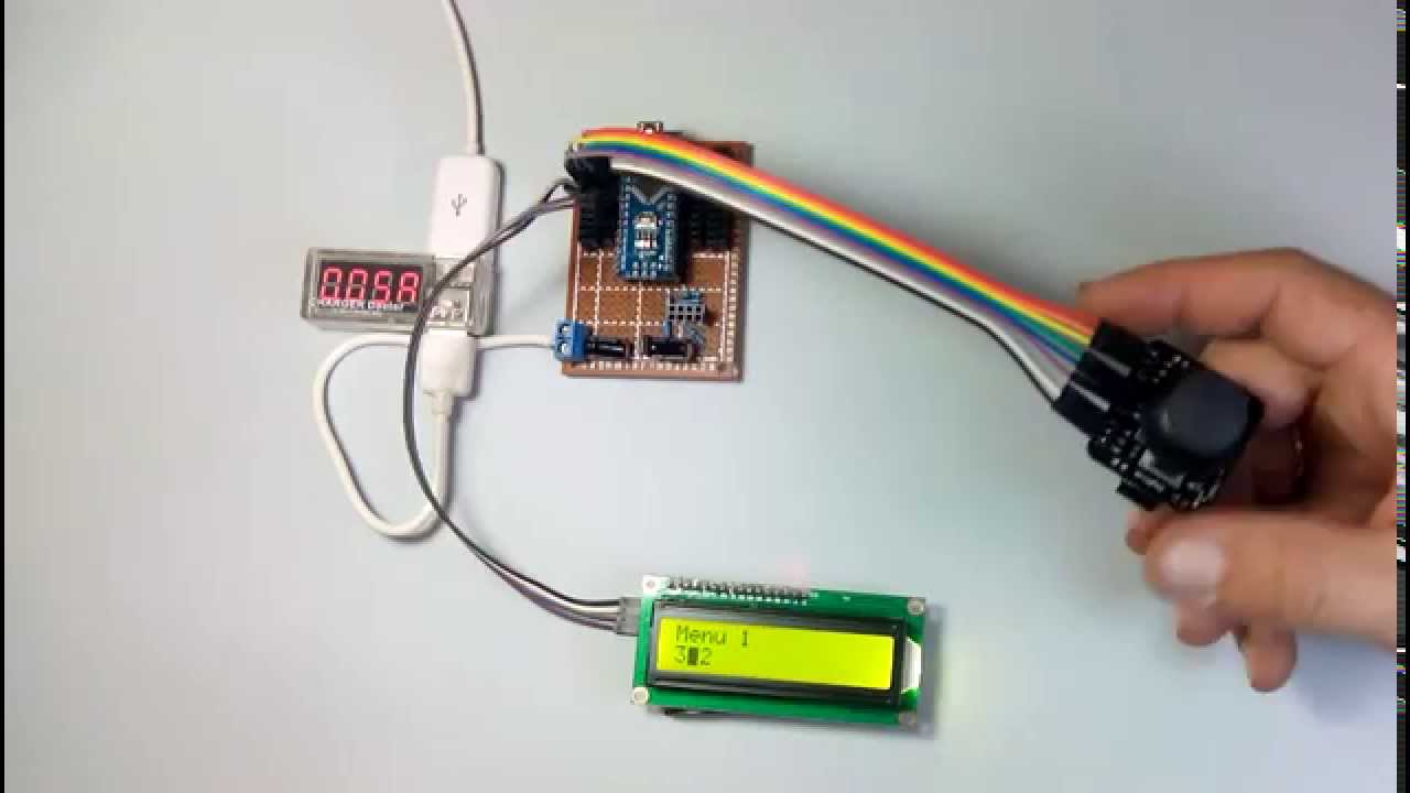 Arduino joystick lcd menu solved youtube