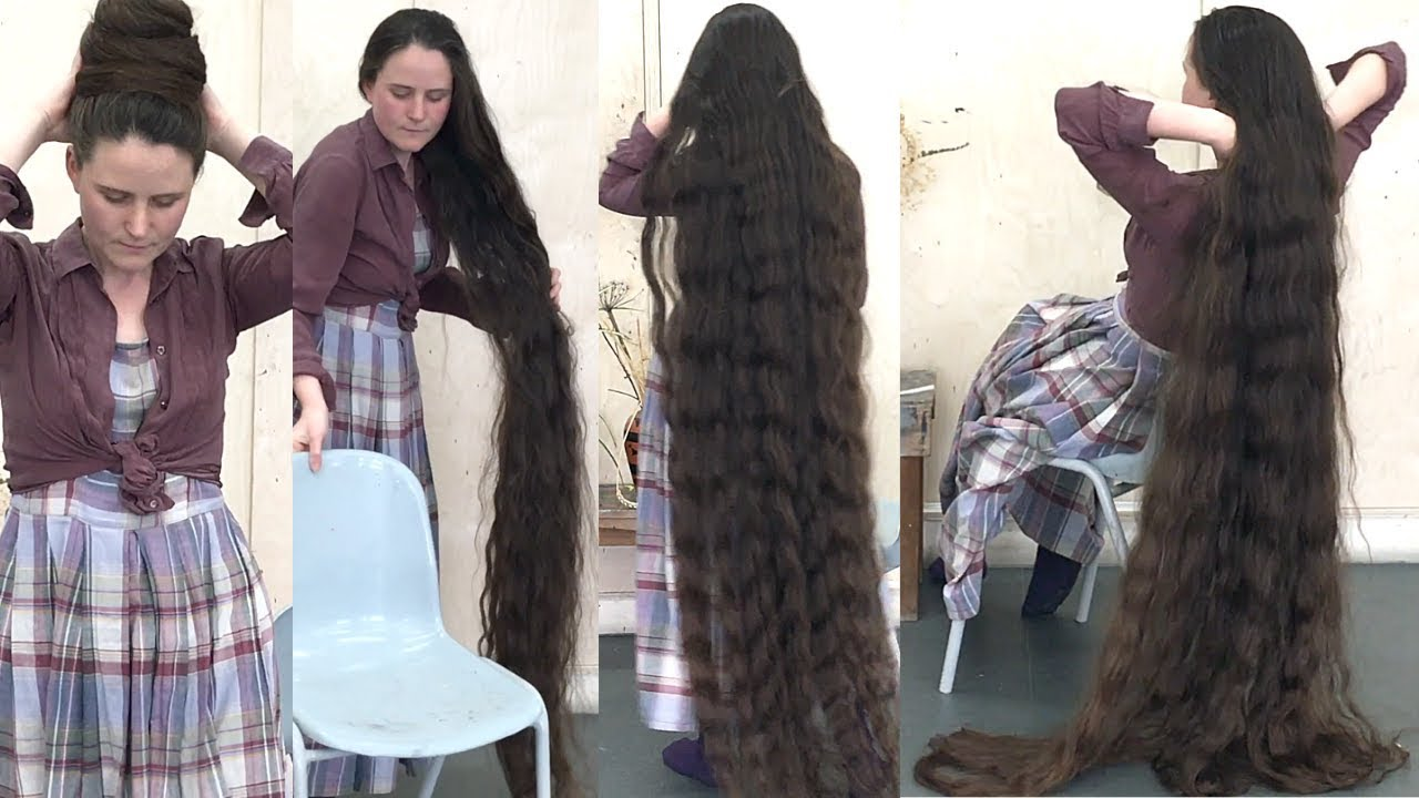 Realrapunzels Longer Than Floor Length Hair Preview Youtube