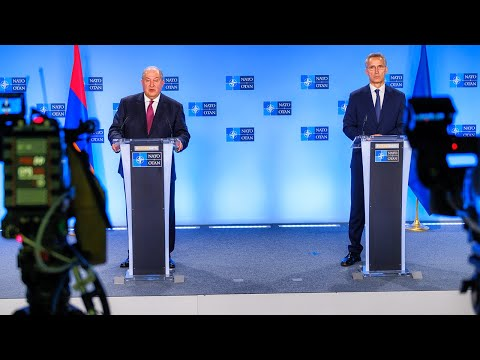 NATO Secretary General With The President Of Armenia🇦🇲 Armen Sarkissian, 21 OCT 2020