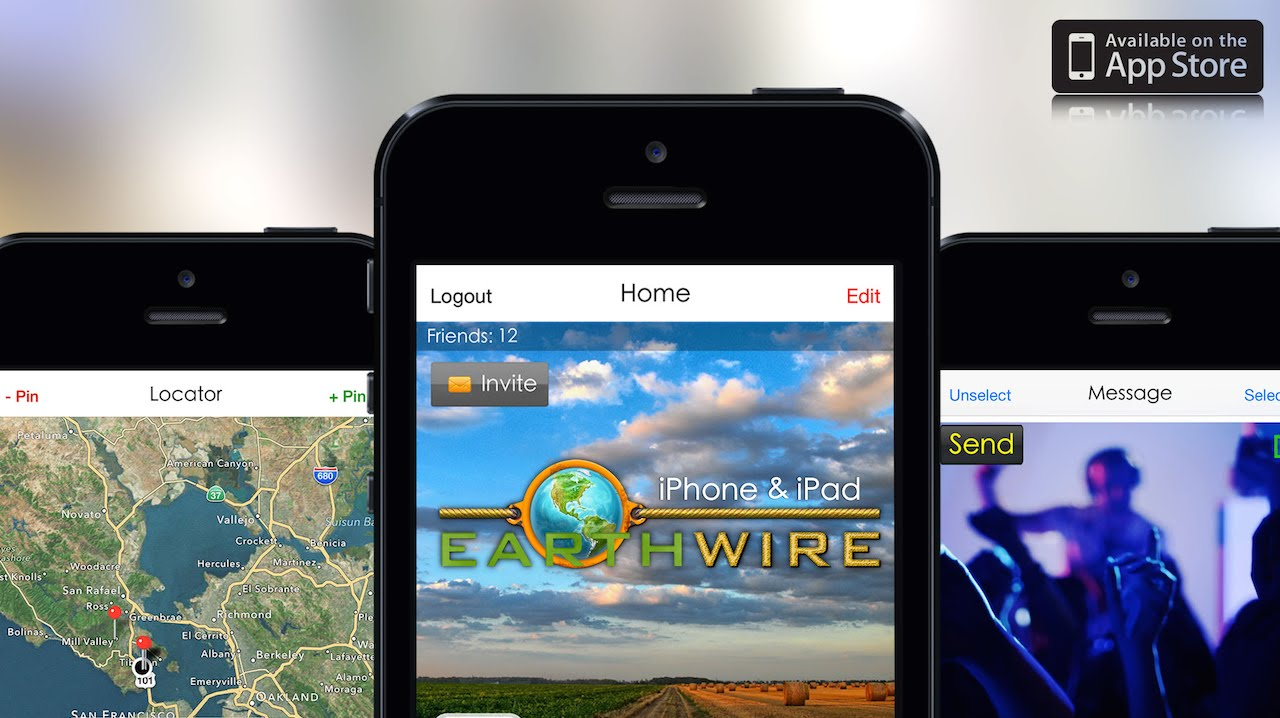Earthwire iOS app. For iPhone and iPad - YouTube