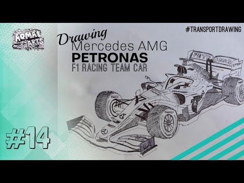 Lets Draw How To Draw A F1 Car 2020 Mercedes F1 Car Youtube
