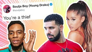 Soulja Boy Starts Twitter War, Accuses Ariana Grande and Drake of Theft