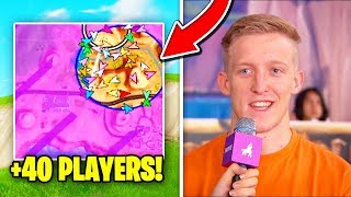 40 *PRO* Players In LAST CIRCLE! (SECRET SKIRMISH BEST MOMENTS) | Fortnite Battle Royale