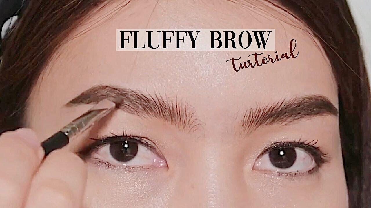 Fluffy Eyebrow Tutorial เขียนคิ้วเป๊ะ ตั้งๆ ฟูๆ เรียงเส้นสวยอยู่ทนทั้งวัน