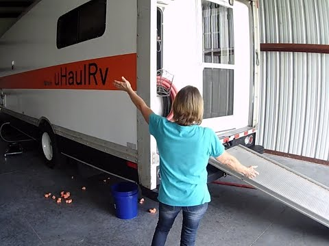 55+ Build RV Out Of A U Haul With $5200 Used U Haul With An Office, Solar, All The Comforts Of Home!