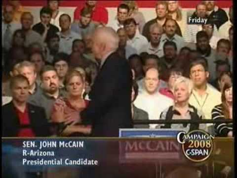 McCain Changes Subject When Asked About Pre-emptive War