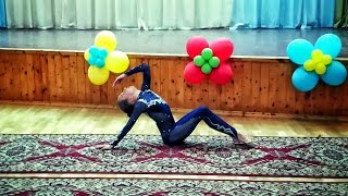 Художественная гимнастика. Андреева Дарья, 2002, Одинцово. Показательное б.п. СОШ №12, 05.11.13