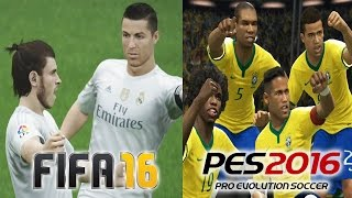 FIFA 16 vs PES 2016 Gameplay Comparison