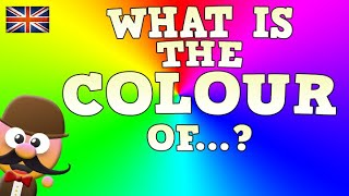 WHAT IS THE COLOUR OF? - LOS COLORES EN INGLÉS - INGLÉS PARA NIÑOS CON MR.PEA - ENGLISH FOR KIDS