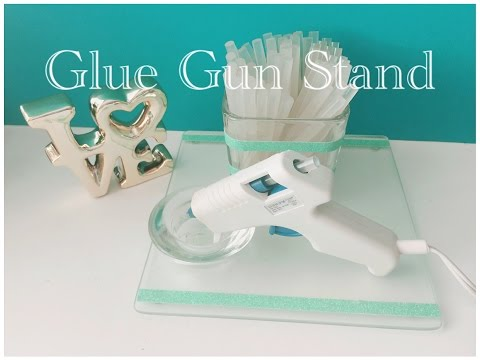 DIY Dollar Tree Glue Gun Stand - Quick & Easy $3