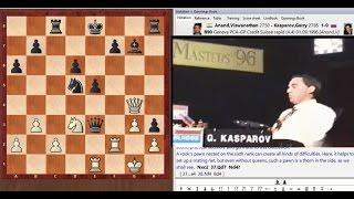 Шокирующий зевок Каспарова! Грубейший зевок Каспарова против Ананда, 1996 год | Kasparov shocking