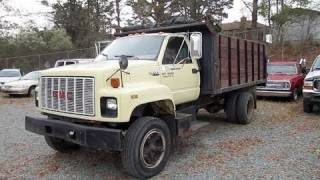 1990 GMC Topkick Dumptruck Start Up, Engine, and In Depth Tour