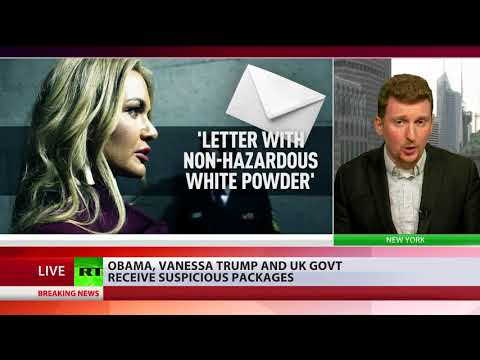 Obama, Vanessa Trump, Assange & UK govt receive suspivious packages