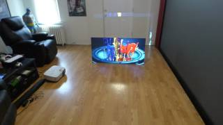 THE FIRST BLACK PROJECTION SCREEN THAT LIKE A OLED TV WITH OUT THE INSANE COST