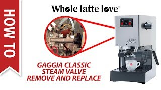 How To: Gaggia Classic Remove and Replace Steam Valve