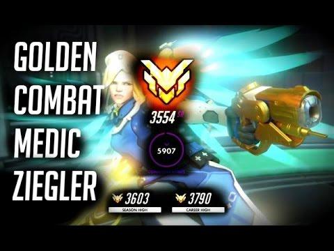[Overwatch] Golden Combat Medic Ziegler Mercy Skin on Dorado