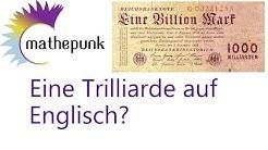 Eine Trilliarde auf Englisch?