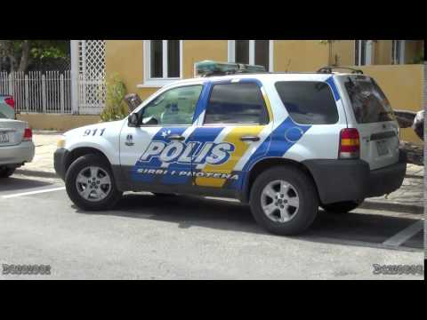 Police cars in Curaçao (Dutch Caribbean)