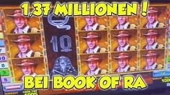 Book of Ra 1,37 MILLIONEN mega JACKPOT - 1000€ Freispiele Novoline