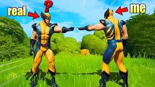 I Actually Pretended to be WOLVERINE in Fortnite
