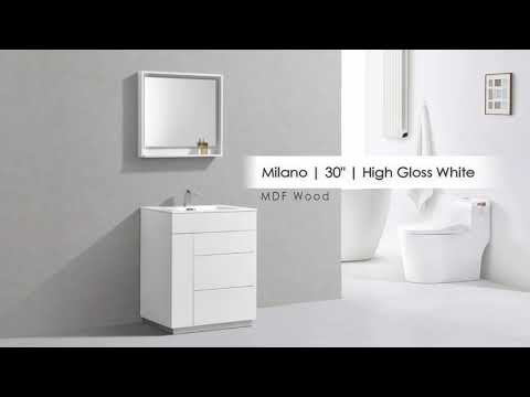 TrendBathroom.com - Bathroom Vanities - Milano Freestanding