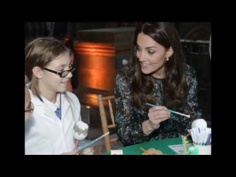 Kate Middleton Attends a Tea Party at the Natural History Museum