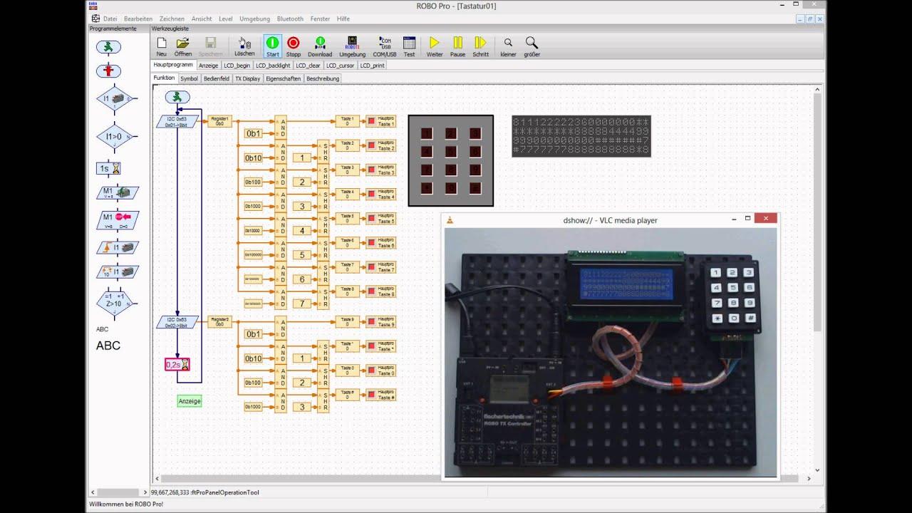fischertechnik ROBO TX Controller + Keypad + LCD Display I2C