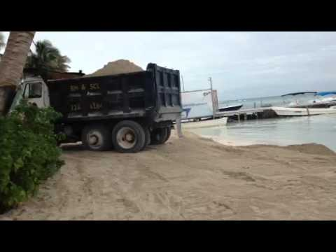 Beach Reclamation on Caye Caulker