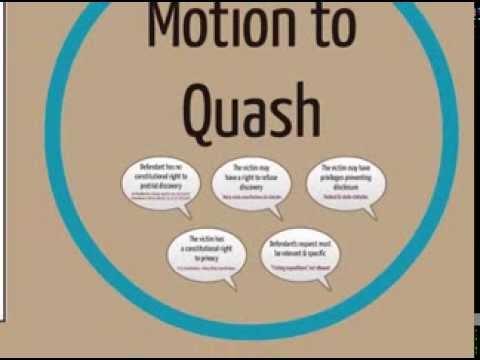 Toolkit Tutorial: Motion to Quash