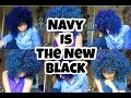 Natural Colored Hair | Adore Royal Navy is the new Black!