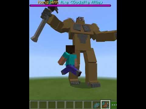 Download Minecraft:kingkong with axe vs kong 2021!! #Minecraft#kingkong#godzilla#viral#trending#new#Mrcraft