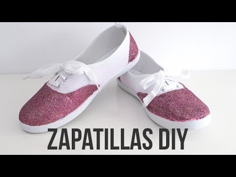 Diy Diy Purpurina Diy Zapatillas Zapatillas Diy Con Con Con Purpurina Zapatillas Zapatillas Purpurina ARj354L