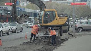 Дорожные работы на улице Максутова ведутся с опережением графика