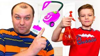 Андрей и веселая история для детей про уборку.