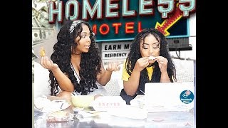 MUKBANG/STORY TIME OF WHEN WE WERE HOMELESS IN CALIFORNIA  😞💔
