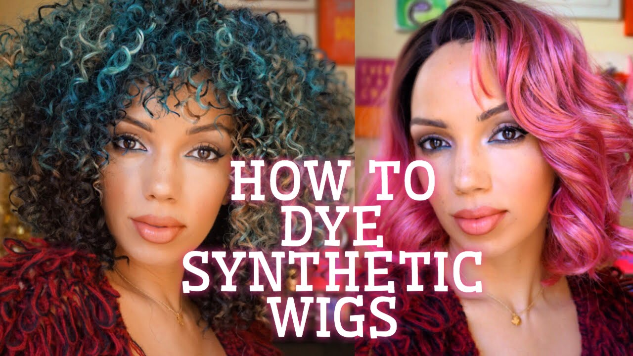 HOW TO DYE SYNTHETIC WIGS DIY - YouTube