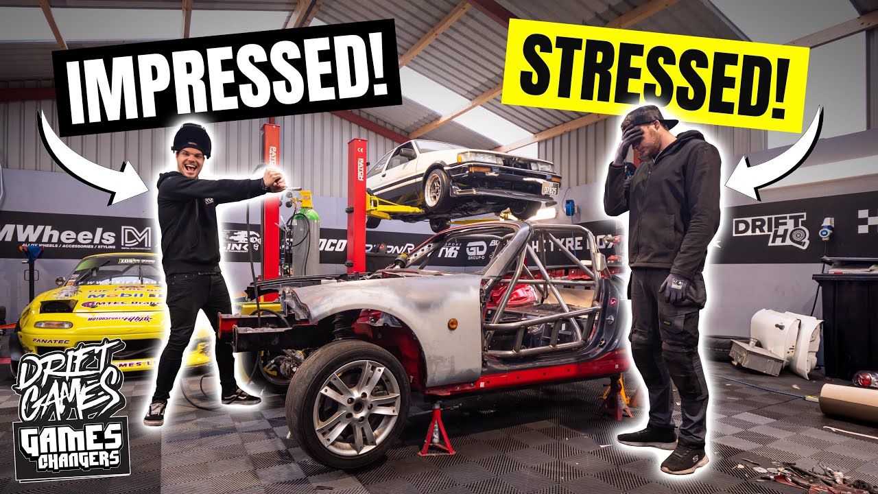 MX5/MIATA drift car CAGE DONE! | BIG NEWS behind the scenes!