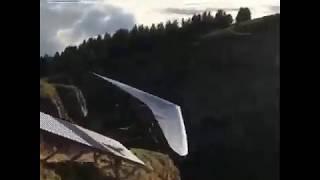 Изумительный полет над облаками