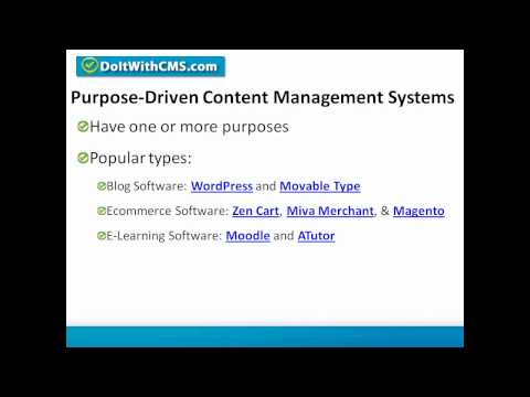 CMS Types -- Learn About Content Management Systems