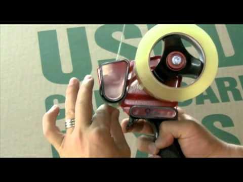 Loading a Tape Dispenser - Marty Metro, CEO of UsedCardboardBoxes.com explains