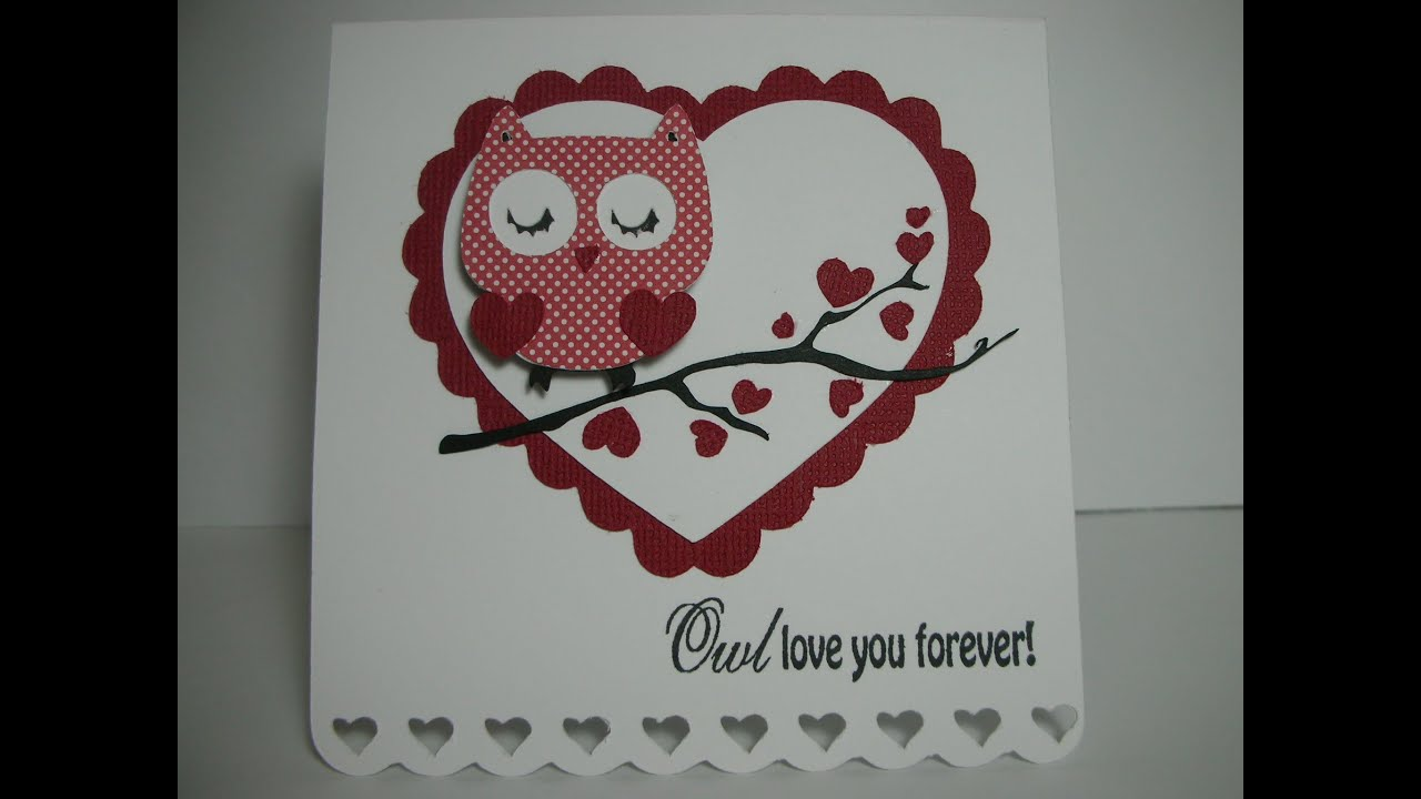 Owl Love you Forever Valentines Day card YouTube – Owl Valentines Day Cards