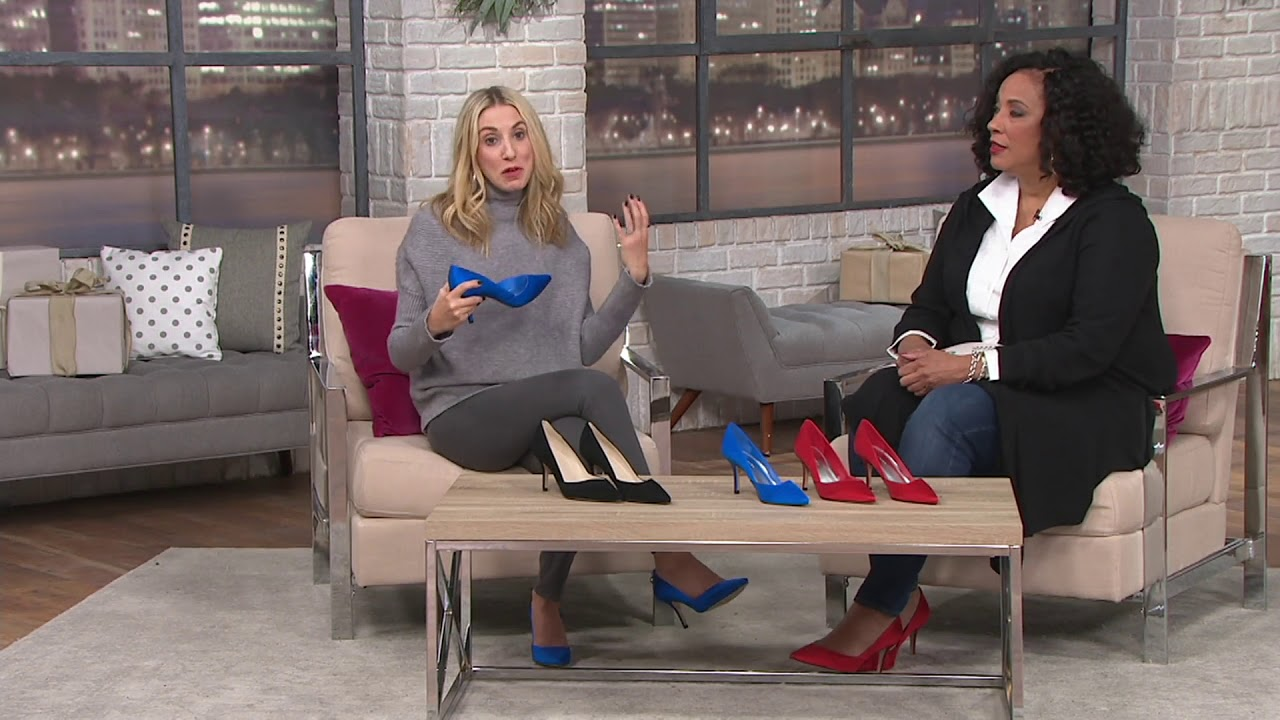 9234d2e5142c Marc Fisher Suede or Satin Pumps - Tuscany on QVC - YouTube