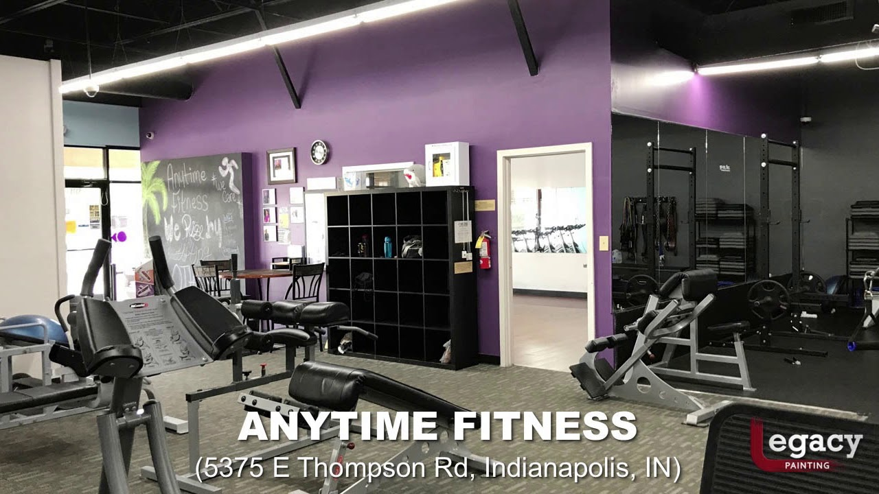 Commercial Interior Painting Indianapolis Anytime Fitness