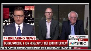 During Unity Tour With DNC Chair Perez, Bernie Says He Isn't A Democrat
