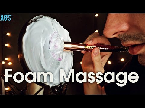 Foam Brushing Massage ASMR (AGS)